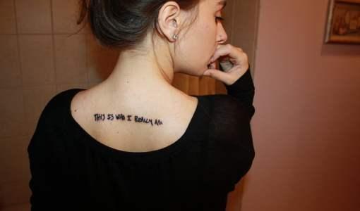 Tatuaje This is who I really man
