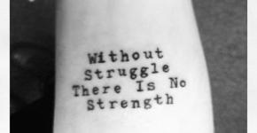 Tatuaje without struggle there is no strength