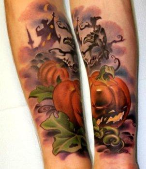 Tatuaje  calabaza terrorífica