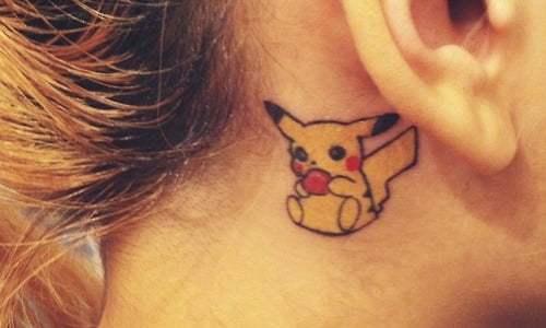 Tatuaje de Pikachu