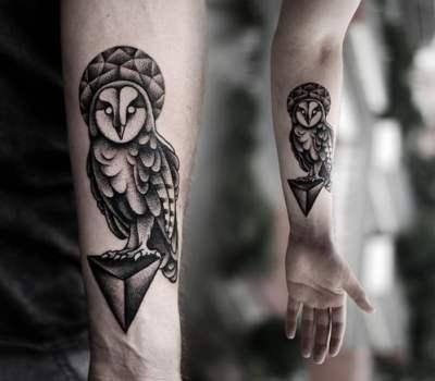 Tatuaje lechuza