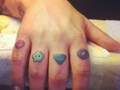Tatuajes botones