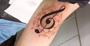 Tatuaje clave sol