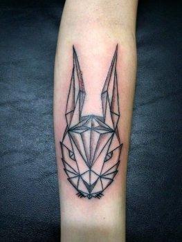 Tatuaje conejo