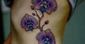 Tatuaje orquídeas