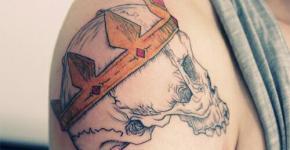 Tatuaje craneo con corona