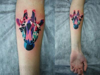 Tatuaje jirafa
