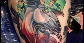 Tatuaje cabeza caballo