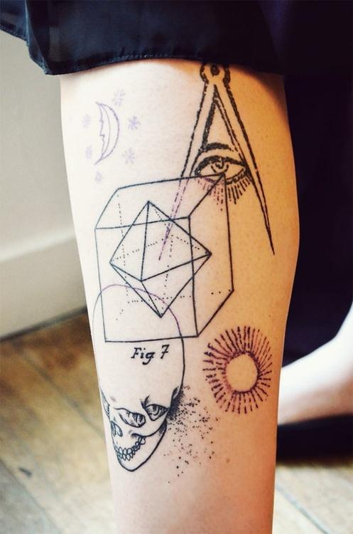 Tatuaje De Figuras Geométricas Tatuajesxd