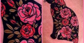tatuaje gato negro