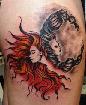 Tatuaje De Sol Y Luna Tatuajesxd
