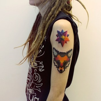 Tatuaje zorro pixelado