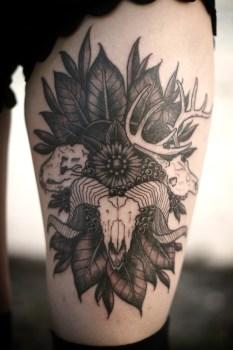 Tatuaje cráneos animales