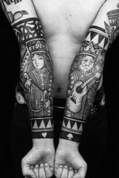Tatuaje de reyes poker