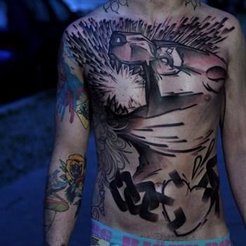 Tatuaje tigre rugiendo