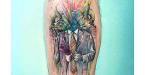 Tatuaje hombre sin cabeza