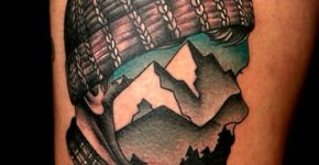 Tatuaje montañero