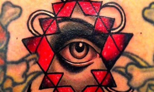 Tatuaje ojo gris