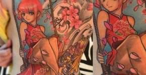 Tatuaje chica columpio