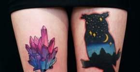 Tatuaje silueta de buho
