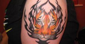 tatuaje tigre brazo