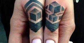 Tatuajes geométricos dedos