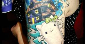 Tatuaje Hello Kitty fantasma