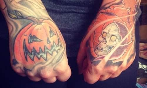 Tatuaje calabaza halloween