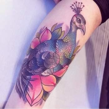 Tatuaje pavo real