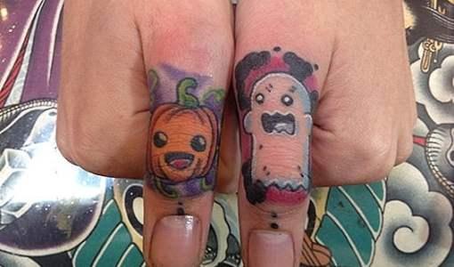 tatuaje calabaza y fantasma