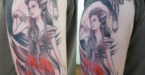 Tatuaje Bella y Bestia