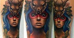 Tatuaje espíritu del bosque