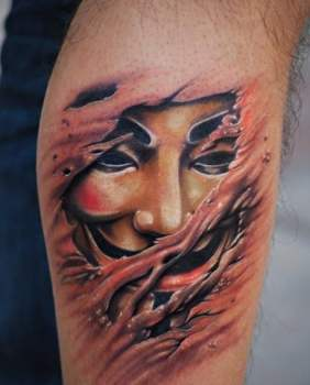 Tatuaje máscara Anonymous