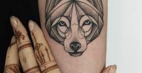 Tatuaje lobo en el brazo