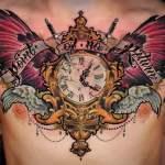 Tatuaje reloj antiguo