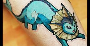 Tatuaje de Vaporeon