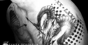 Tatuaje cráneo de cabra