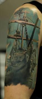 Tatuaje galeón