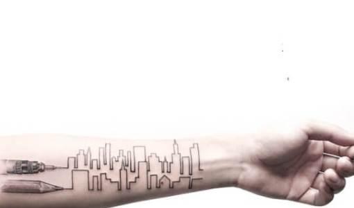 Tatuaje horizontes de ciudades
