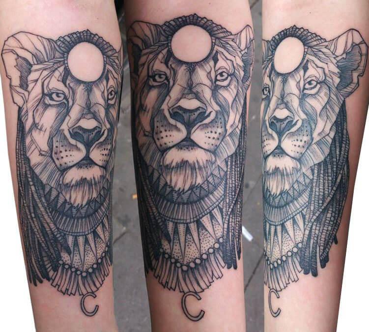 Tatuaje De Leona En El Brazo Tatuajesxd