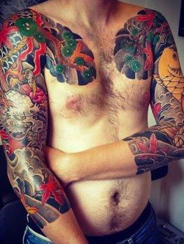 Tatuaje Irezumi en los brazo