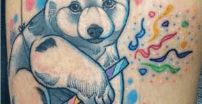 Tatuaje cachorro de oso polar