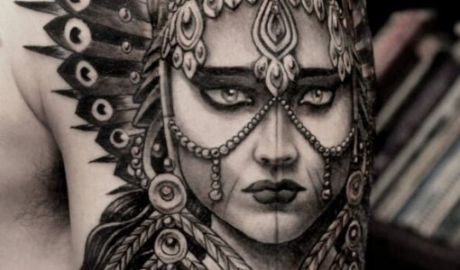Tatuaje princesa india