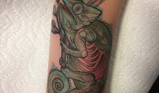 Tatuaje de camaleon