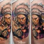 tatuajes de indios a color
