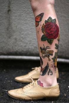 bonitos diseños de tatuajes de flores
