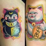 tatuaje maneki neko