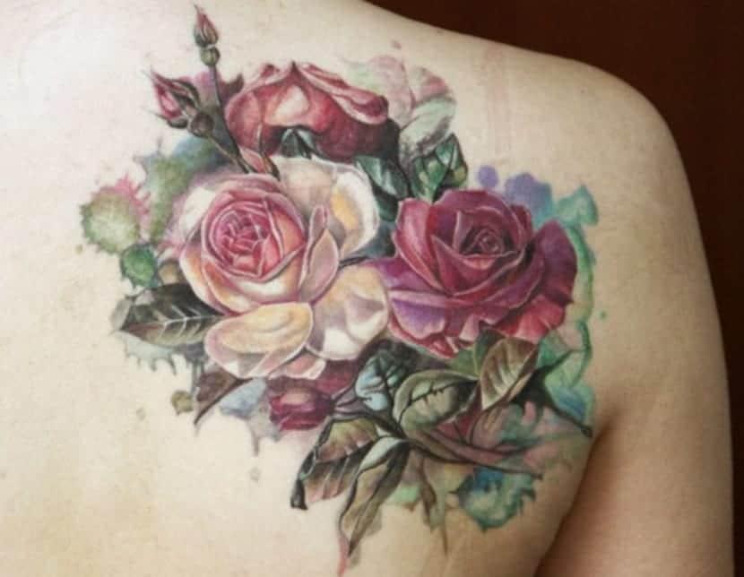 Exoticas Tatuajes De Flores