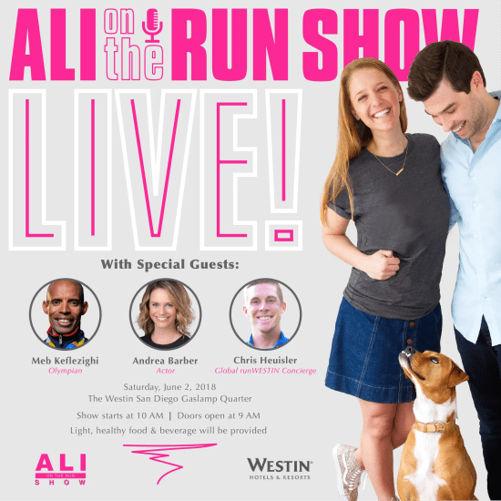 Ali on the Run Show: LIVE!