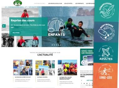 Charlotte Caster Tatziki - webdesign Hendaye Bidassoa Surf Club